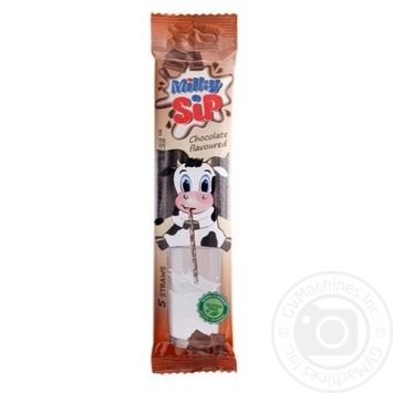 Соломинки ViteCer MilkySip для молока зі смаком шоколаду 5*6г - купити, ціни на Метро - фото 1