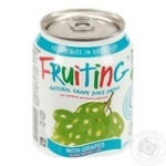 Non-alcoholic non-carbonated juice-containing drink of grape juice Fruiting 238ml