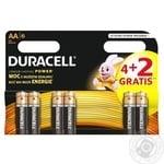 Батарейки Duracell AA 4+2шт