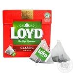 Чай чорний байховий дрібний  у пакетиках для разового заварювання Loyd 20*2г