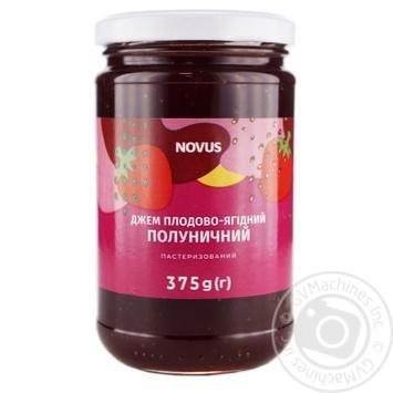 Джем Novus Полуниця 375г - купити, ціни на Novus - фото 1