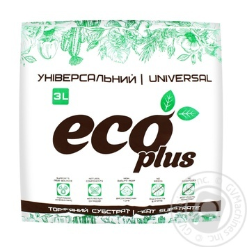 Субстрат торф'яний ECOPLUS Універсальний 3л - купить, цены на Novus - фото 1