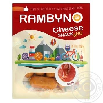 Сыр плавленый Rambyno копченый с ветчиной 75г - купить, цены на Novus - фото 1