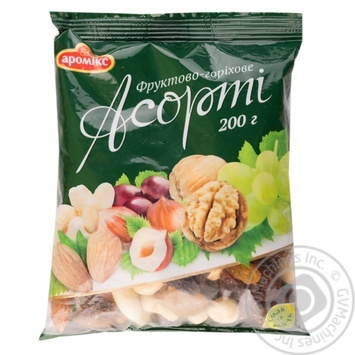 Mix of nuts Aromix dried 200g sachet - buy, prices for Novus - image 1