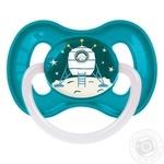 Пустышка Canpol babies Space круглая латексная 6-18мес. в ассортименте