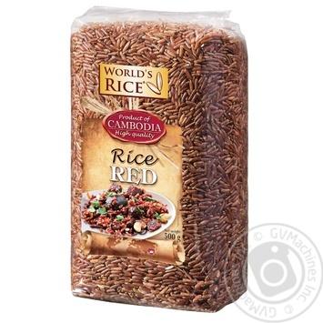 Рис World`s Rice червоний 500г - купити, ціни на Ашан - фото 1