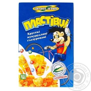 Пластівці кукурудзяні Золоте Зерно глазуровані 80г Україна - купити, ціни на Novus - фото 1