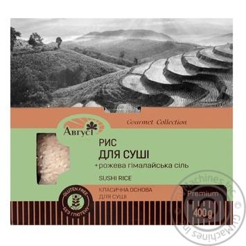 Рис Август круглий для суші з рожевою гімалайською сіллю 400г - купити, ціни на CітіМаркет - фото 1
