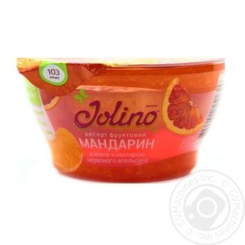 Десерт фруктовый Джолино Мандарин в желе с нектаром красного апельсина 150г - купить, цены на Novus - фото 1