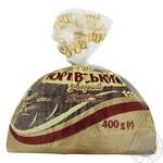 Хлеб Царь Хлеб Юрьевский заварной половинка нарезка 400г - купить, цены на Фуршет - фото 1