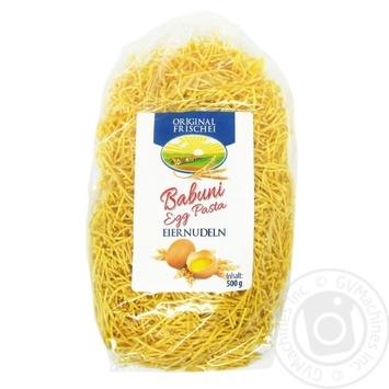 Макаронные изделия яичные Babuni Egg Вермишель 500г - купить, цены на Novus - фото 1