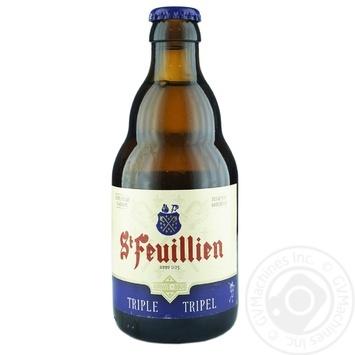 Пиво St-Feuillien Triple світле фільтроване 8,5% 0,33л