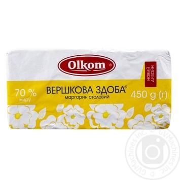 Маргарин Олком Вершкова здоба 65% 450г - купити, ціни на Ашан - фото 1