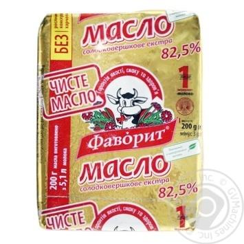 Масло Фаворит Экстра сладкосливочное 82.5% 200г - купить, цены на Novus - фото 1