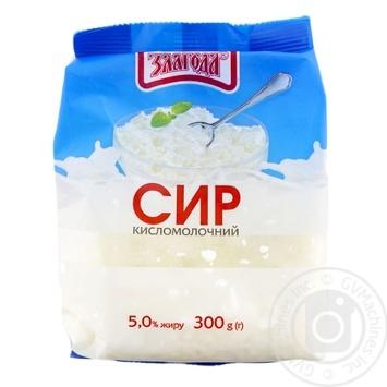 Сир кисломолочний Злагода 5% 300г - купити, ціни на CітіМаркет - фото 1