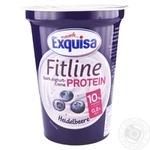 Крем-йогурт Exquisa Fitline протеиновый черника 10% 400г