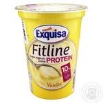 Крем-йогурт Exquisa Fitline протеиновый ванильный 10% 400г
