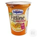 Крем-йогурт Exquisa Fitline протеиновый персик-маракуйя 10% 400г