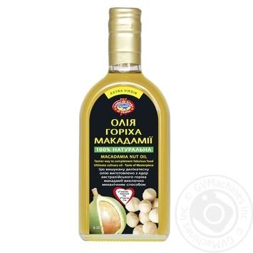 Масло ореха макадамии Golden Kings of Ukraine Extra Virgin нерафинированное недезодорированное 350мл - купить, цены на Novus - фото 1