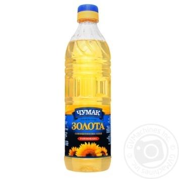 Масло Чумак Золотое подсолнечное рафинированное 500мл - купить, цены на Восторг - фото 2