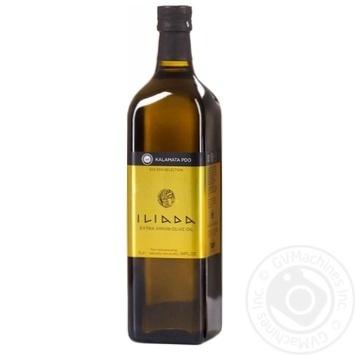 Масло оливковое Iliada Kalamata Pdo нерафинированное первого холодного отжима 1л - купить, цены на Novus - фото 1