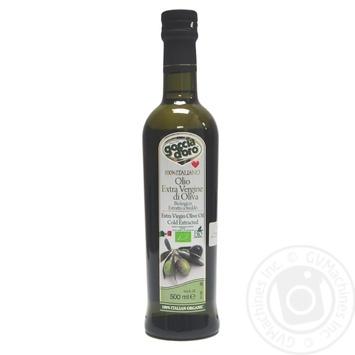 Масло оливковое Goccia D'oro первого холодного отжима нерафинированное 500мл