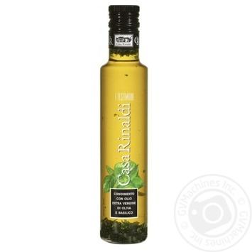 Олія Casa Rinaldi оливкова Екстра Вірджин першого холодного віджиму з базиліком 250мл - купити, ціни на Novus - фото 1