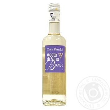 Уксус Casa Rinaldi винный белый 6% 500мл - купить, цены на Novus - фото 1