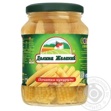 Vegetables corn Dolina jelaniy canned 340g glass jar - buy, prices for Novus - image 1