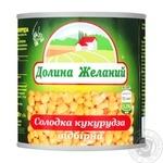 Кукуруза Долина Желаний сладкая отборная 212мл - купить, цены на Фуршет - фото 1