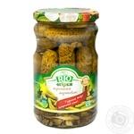 Огірки  Rio корнішони мариновані 550г - купити, ціни на Novus - фото 1