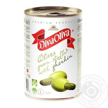 Оливки Diva Oliva L фаршированные огурцами 314мл - купить, цены на Novus - фото 1