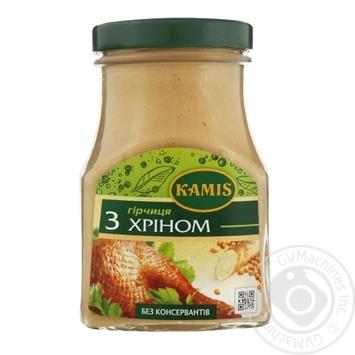 Горчица Kamis с хреном 185г - купить, цены на Novus - фото 1