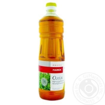 Масло кукурузное Marka Promo нерафинированное холодного прессования первого отжима 920г - купить, цены на Novus - фото 1