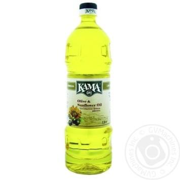 Олія Кама соняшниково-оливкова рафінована 1000мл - купити, ціни на Novus - фото 1