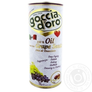 Oil Goccia d'oro Private import with grape seed refined 1000ml - buy, prices for Novus - image 1