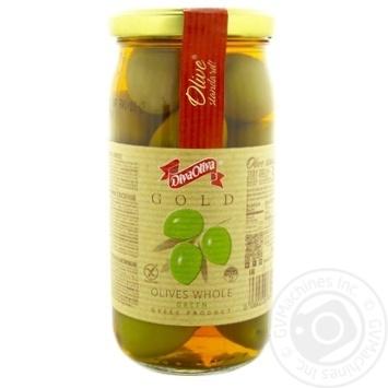 Оливки DivaOliva зеленые с косточкой 370мл - купить, цены на Novus - фото 1