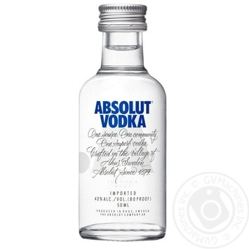 Absolut Standard Vodka 40% 0,05ml - buy, prices for Auchan - photo 1