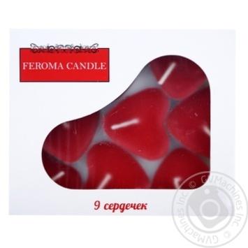Арома чайні сердечки у коробці 9 шт Feroma Candle