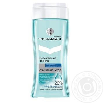 Черный Жемчуг Очищение+уход Освежающий тоник для нормальной и комбинированной кожи 200мл - купить, цены на Novus - фото 1
