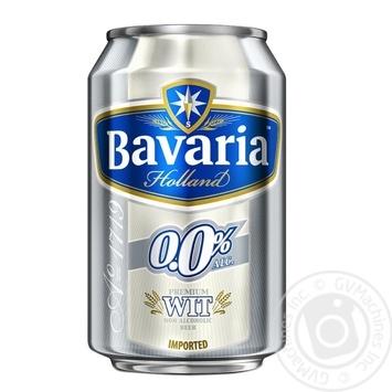 Пиво Bavaria Holland светлое безалкогольное ж/б 0% 0,33л - купить, цены на Novus - фото 1