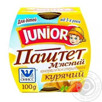 Паштет мясной Онісс Junior куриный 100г - купить, цены на Novus - фото 2
