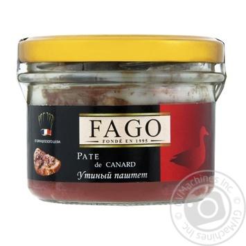 Паштет утиный Fago 180г - купить, цены на Novus - фото 1