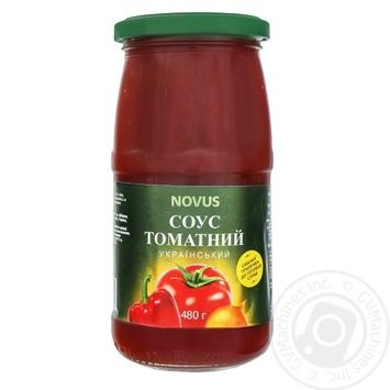 Novus Ukrainian Tomato Sauce 480g - buy, prices for Novus - image 1