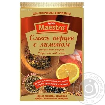 Spices Red hot maestro Pepper mix lemon 30g - buy, prices for Novus - image 1
