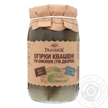Огірки Dworek-1905 солоні бочкові 850г - купити, ціни на Novus - фото 1