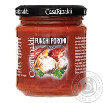 Соус томатный Casa Rinaldi с Белыми грибами 190г - купить, цены на Novus - фото 1