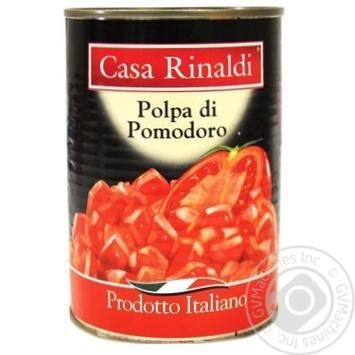 Томаты в собственном соку Casa Rinaldi Polpa di Pomodoro 400г - купить, цены на Novus - фото 1