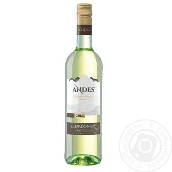 Вино Andes Chardonnay белое сухое 13.5% 0,75л
