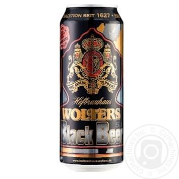 Пиво Wolters Premium Black Pilsner Beer темное 5% 0,5л